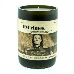 19 Crimes Hard Chard Wine Candle