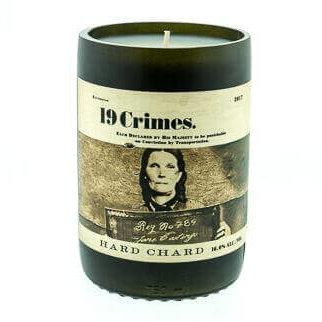 19 Crimes Hard Chard Wine Candle