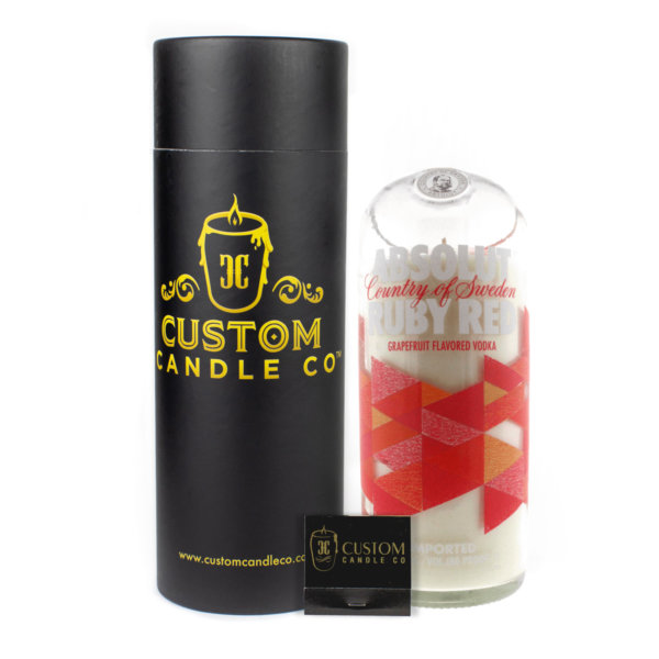 Absolut Red Ruby Vodka Candle