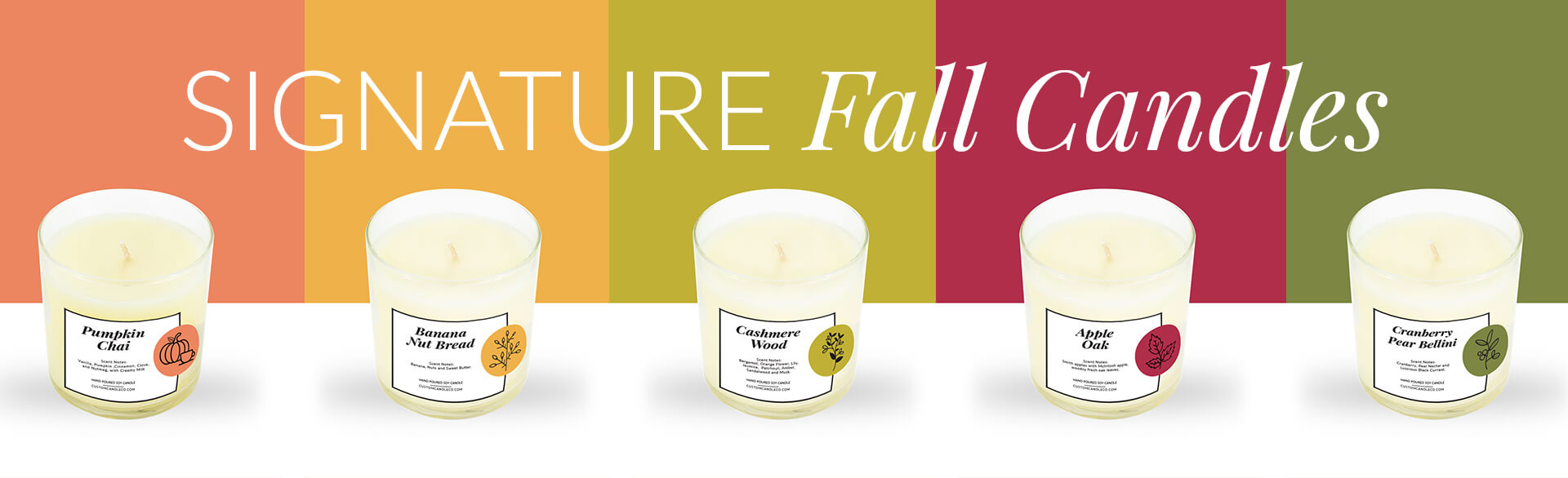 Signature Fall Candles