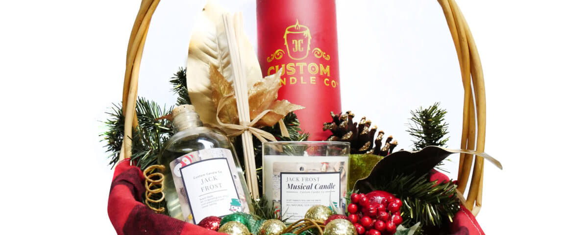 musical candles gift basket