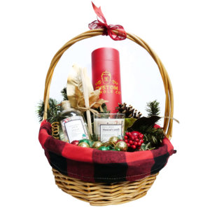 musical candles gift basket
