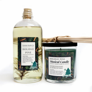 Pine-scented diffuser and musical candle