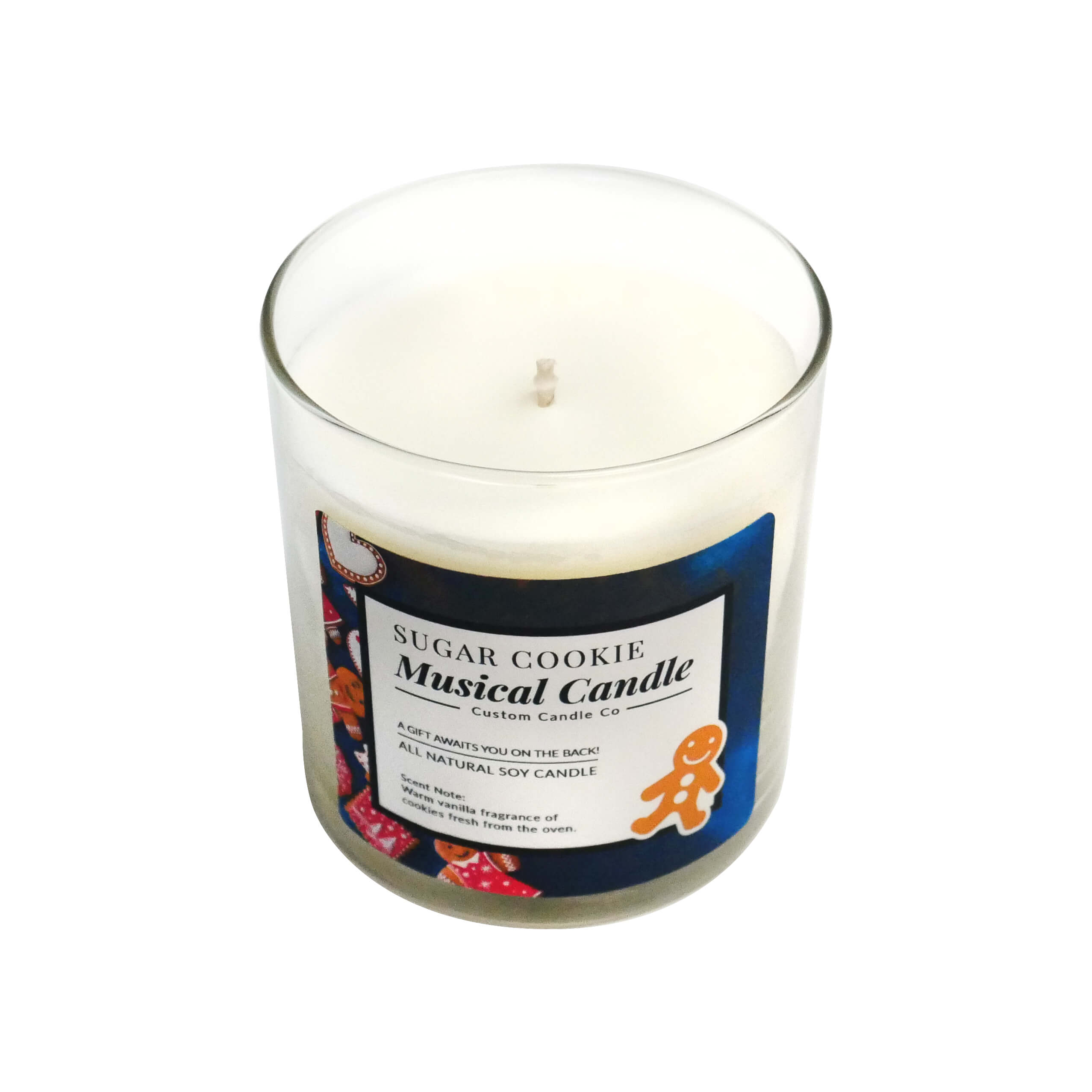Musical Holiday Candle - Sugar Cookie | Custom Candle Co