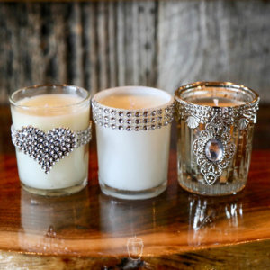 Wedding Candles in shot glasses