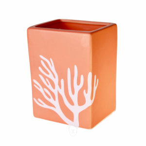 Orange Ocean Coral Cube