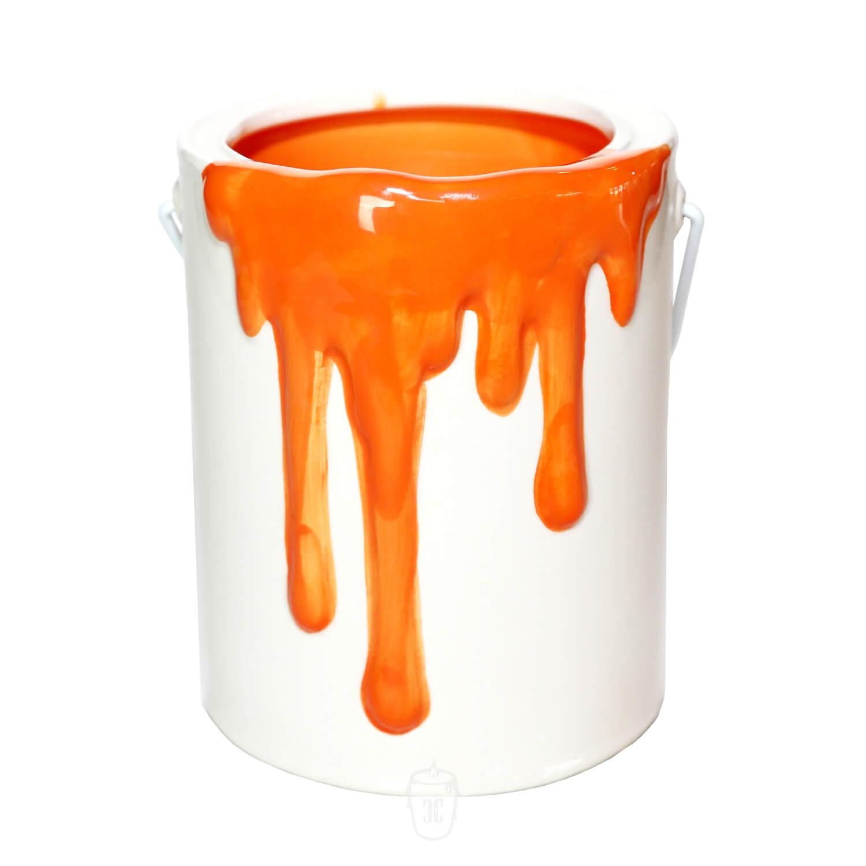 Paint Bucket Orange Candle Custom Candle Co