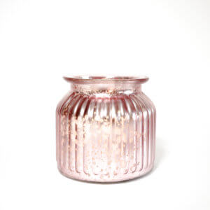 Metallic Pink Jar Candle