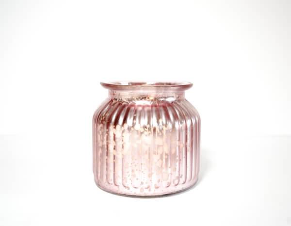 Metallic Pink Jar Candle