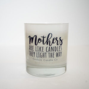 Mothers Light the Way White Candle in a White Tumbler