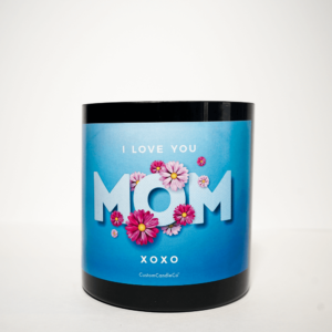I Love You Mom Black Tumbler 4 lbs.