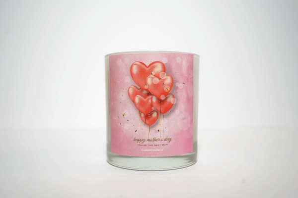 Happy Mother's Day Candle in 11 oz. white tumbler