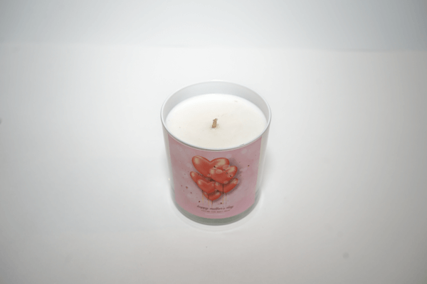 Happy Mother's Day Candle in 11 oz. white tumbler top view