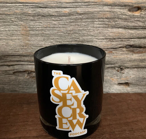 Casey Crew Candle in Black Tumbler with Gold Letters