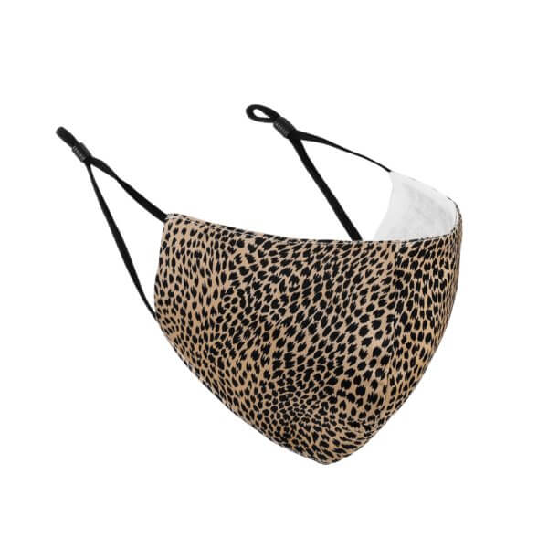 Brown/Black ANIMAL SPOTTED Fashion Face Masks