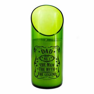 Dad Man Myth Legend green candle