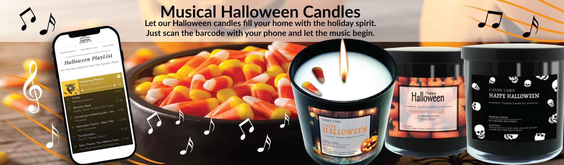 Musical Halloween Candles