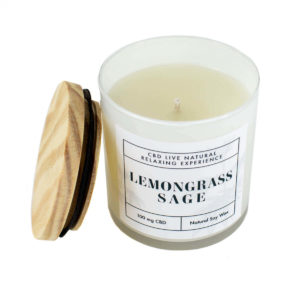 LEMONGRASS SAGE Relaxing Aromatherapy Candle 11oz