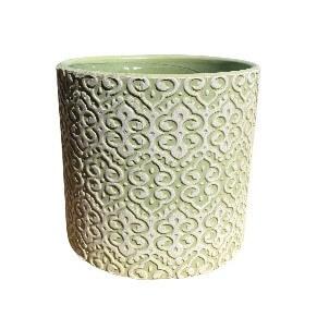 Light Green Designed Pot