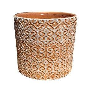 Orange Designed Pot