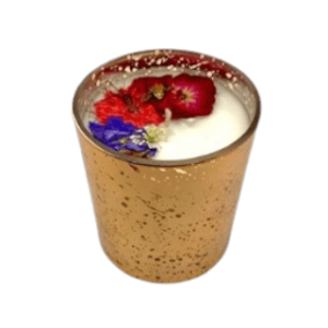 Rose Gold Floral Candle - Red Theme, Floral Scent 1 New