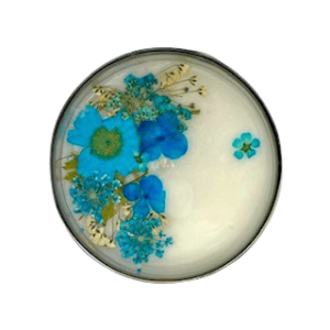Silver Floral Candle - Blue Theme, Floral Scent 2